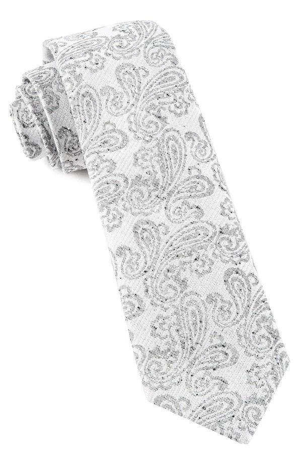 Hanging Paisley White Tie