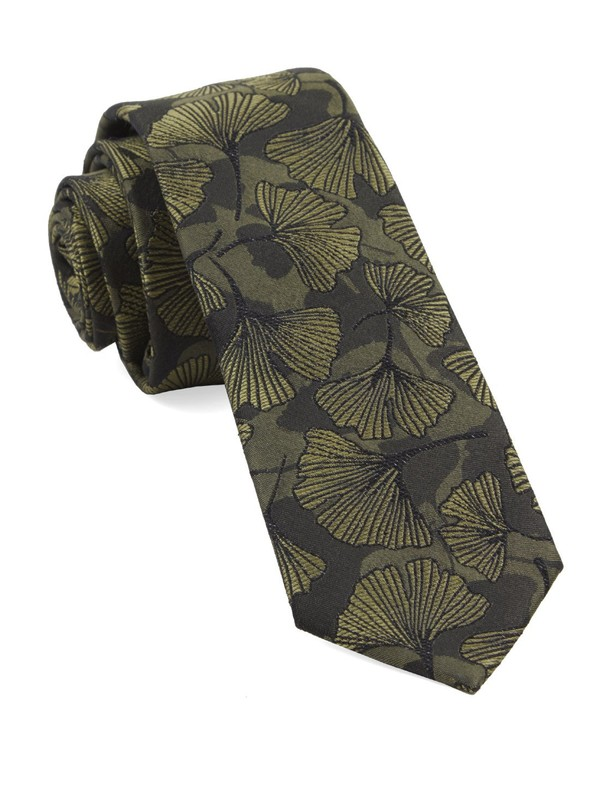 Palm Fronday By Dwyane Wade Army Green Tie