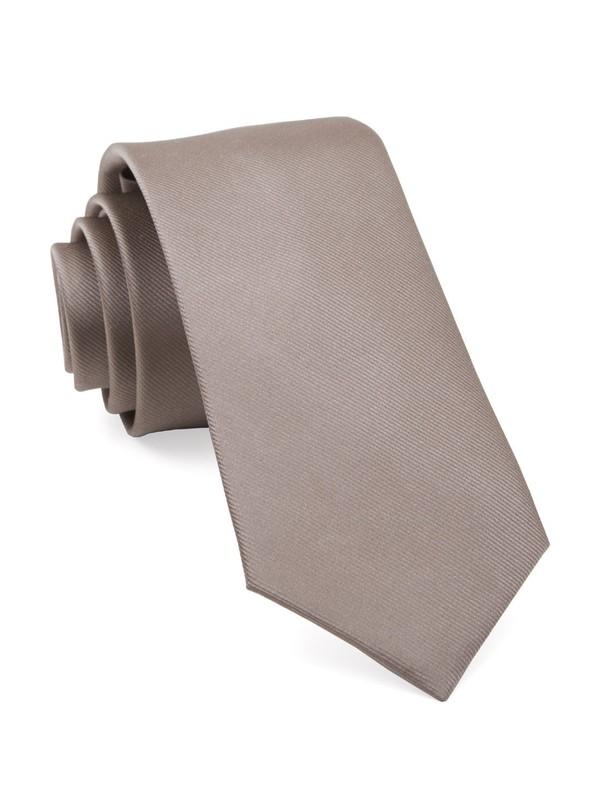 Grosgrain Solid Sandstone Tie