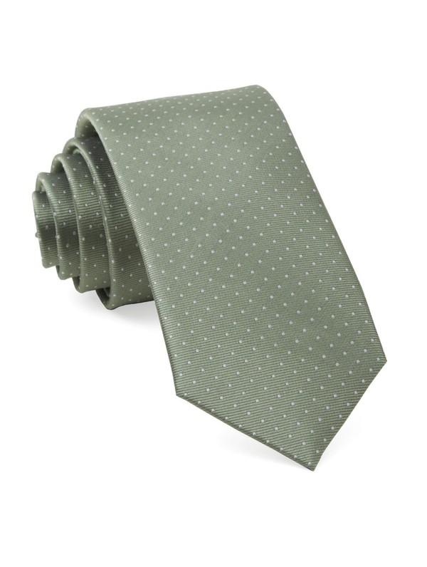 Mini Dots Sage Green Tie