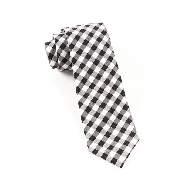 Cotton Table Plaid Black Tie