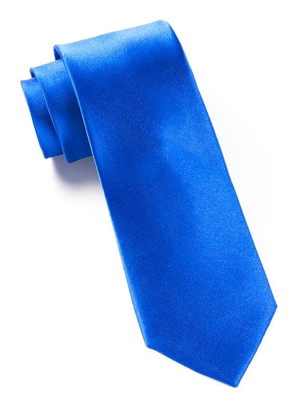 Solid Satin Serene Blue Tie