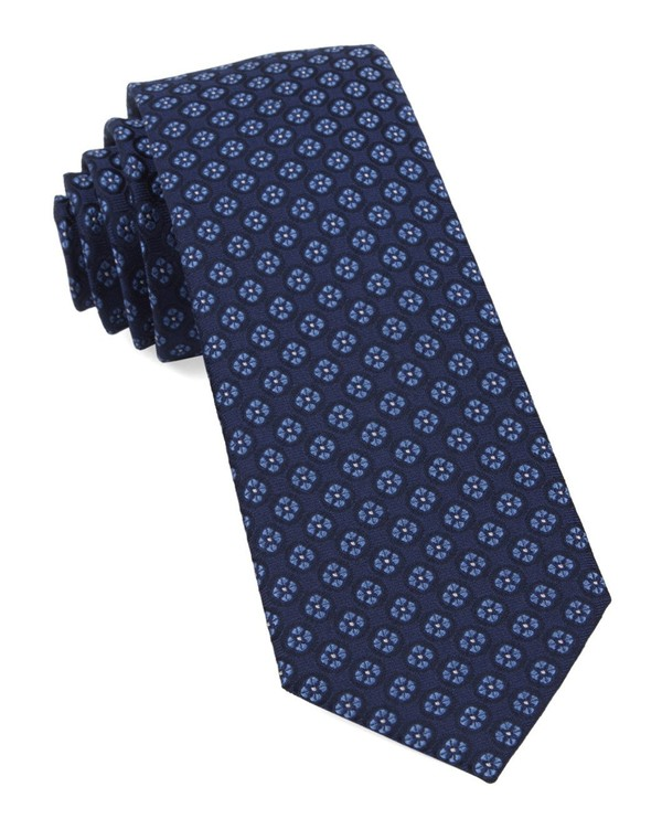 Bedrock Floral Navy Tie