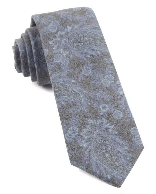 Beacon Street Paisley Periwinkle Tie