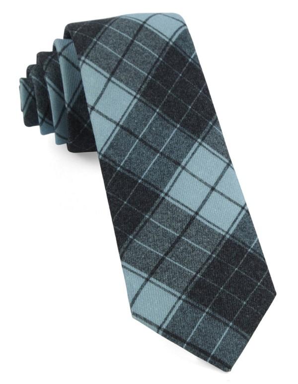 Blackmore Plaid Pool Blue Tie
