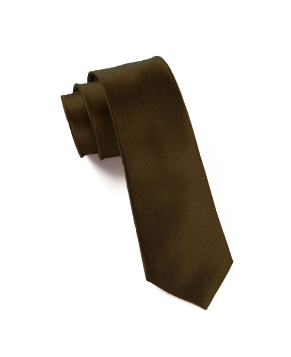 Solid Satin Chocolate Tie
