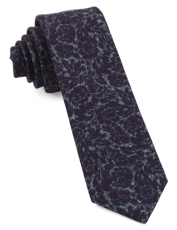 Kingsley Floral Plum Tie