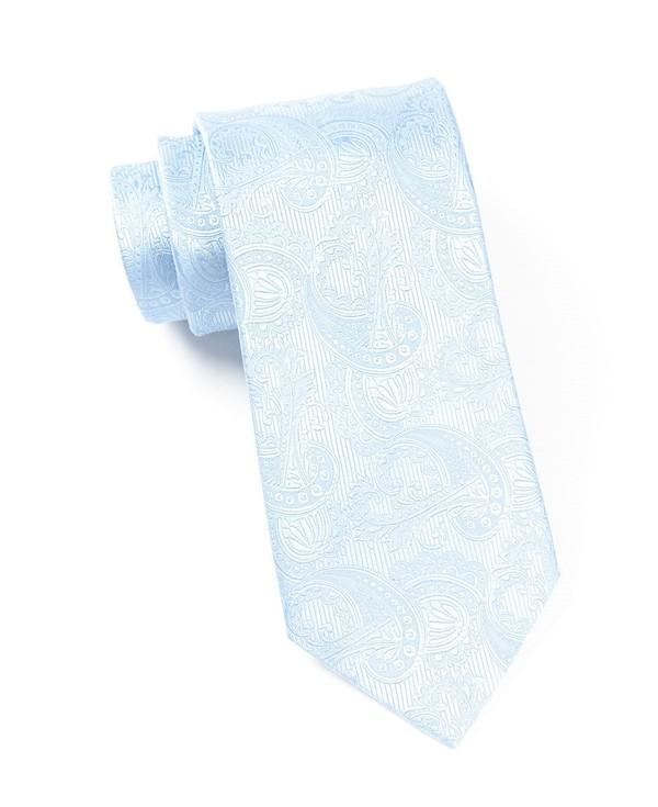Twill Paisley Aqua Tie