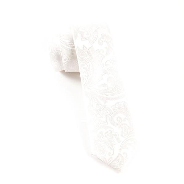 Organic Paisley White Tie
