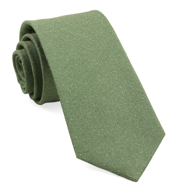 Linen Stitched Grass Tie