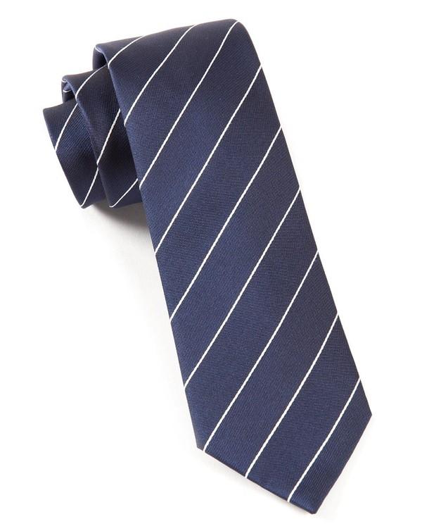 Pencil Pinstripe Classic Navy Tie