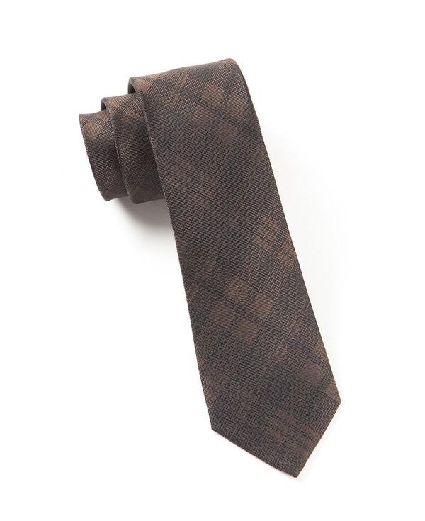 Mood Plaid Brown Tie