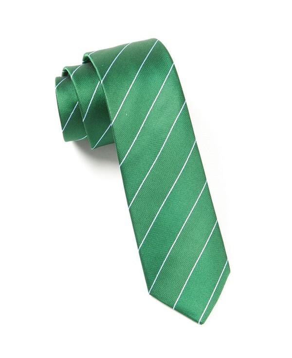 Pencil Pinstripe Emerald Green Tie