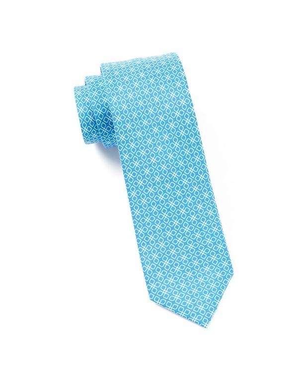 Geoflower Serene Blue Tie