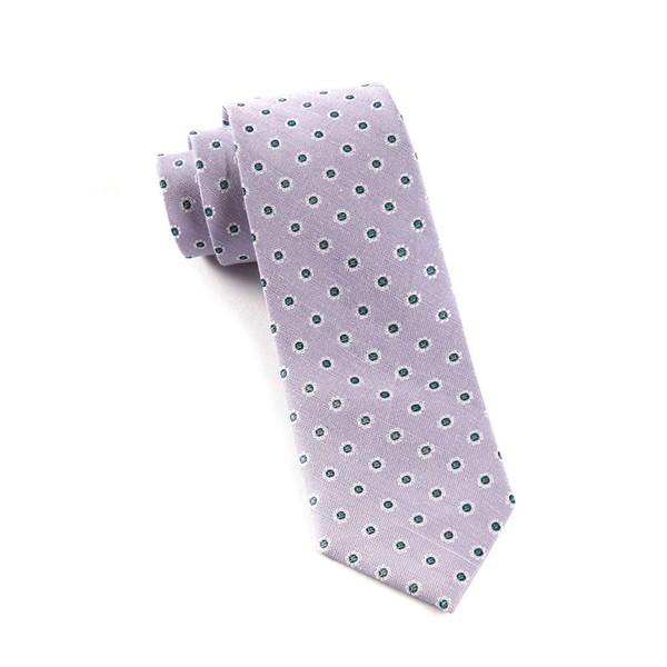 Half Moon Floral Lilac Tie