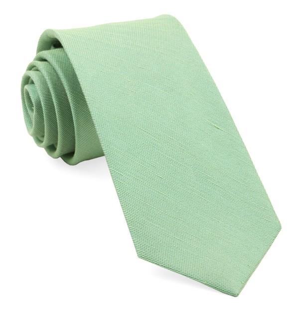 Sand Wash Solid Apple Green Tie