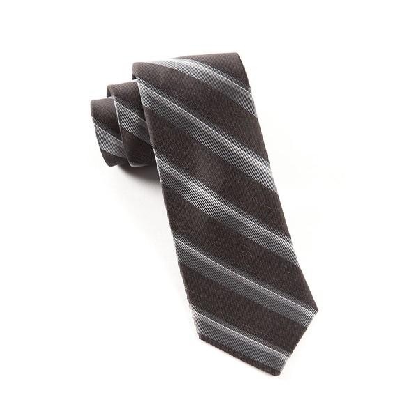 Social Stripe Black Tie