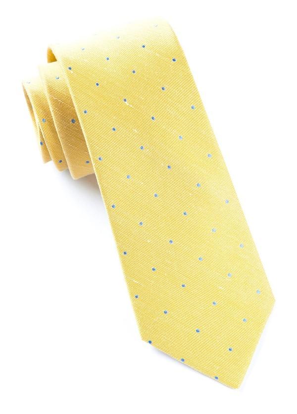 Bulletin Dot Yellow Tie