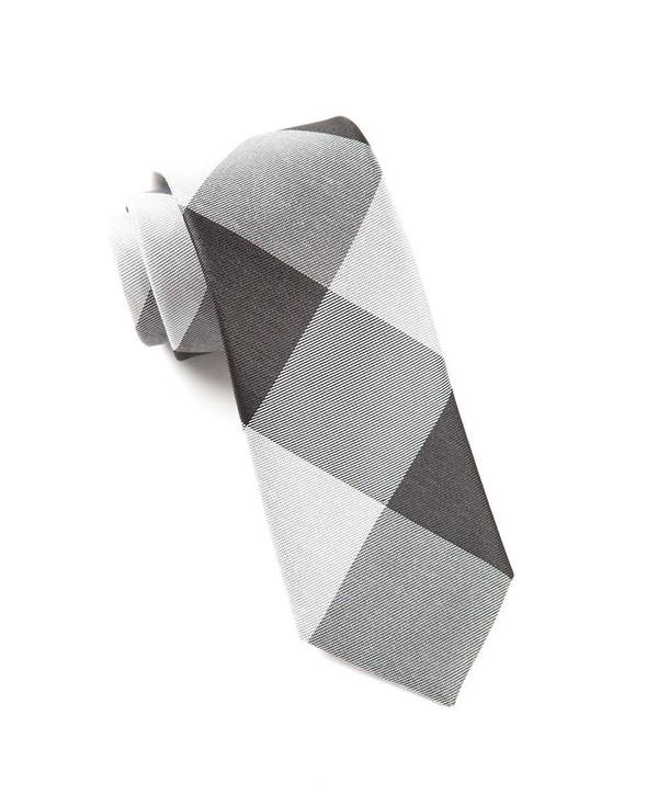 Bison Plaid Black Tie