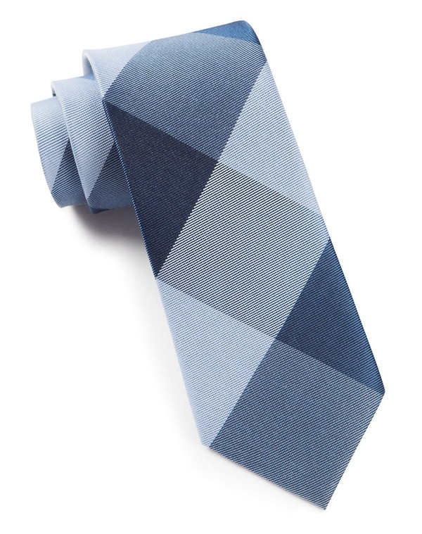 Bison Plaid Blues Tie