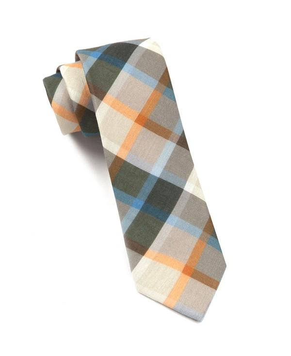 Woodstock Plaid Browns Tie