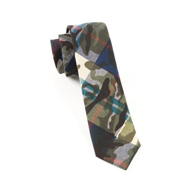Textured Camo Blue Tie