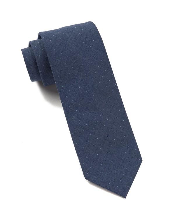 Thomas Dot Dark Blue Tie