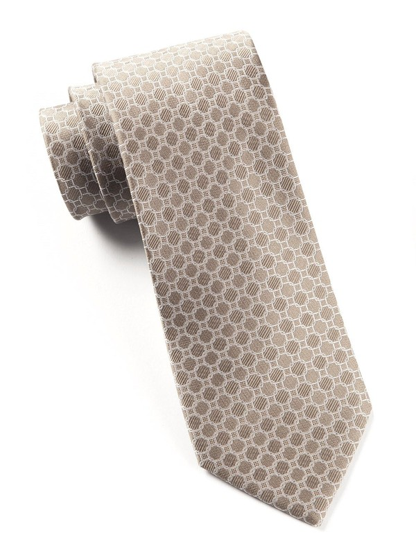 Chain Reaction Champagne Tie