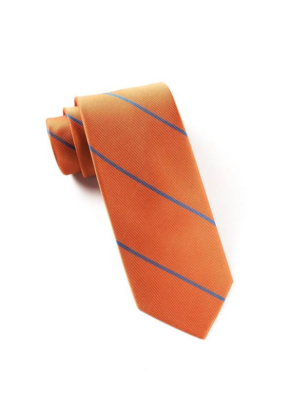 Delta Stripe Tangerine Tie