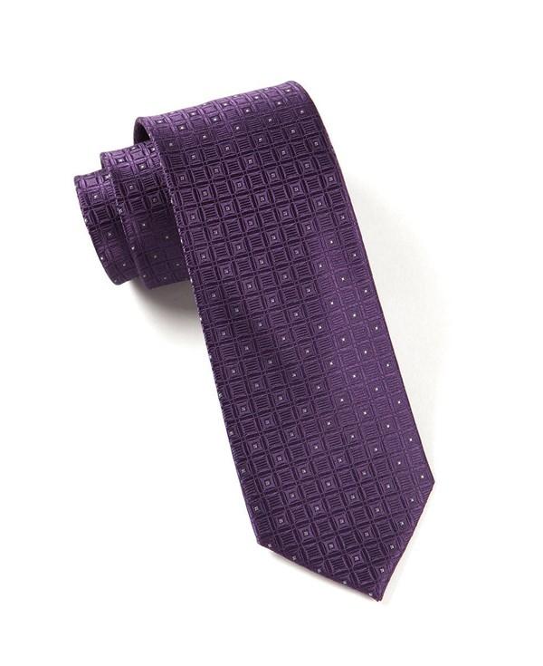 Covert Checks Plum Tie