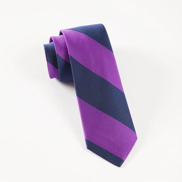 Super Stripe Purple Tie