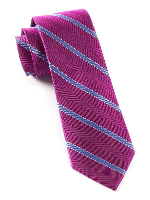 Pipe Dream Stripe Azalea Tie