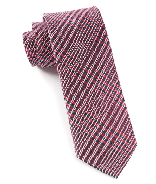 Huntington Plaid Red Tie