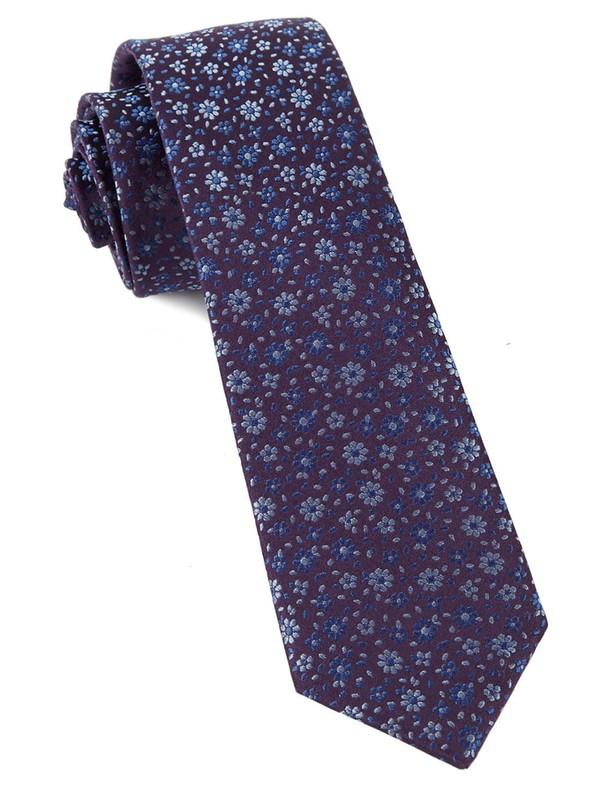 Milligan Flowers Light Purple Tie