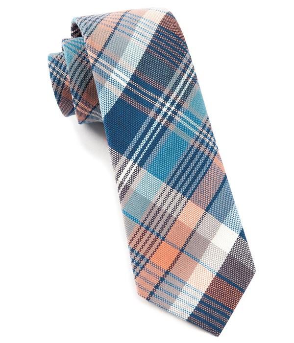 Clarendon Plaid Serene Blue Tie