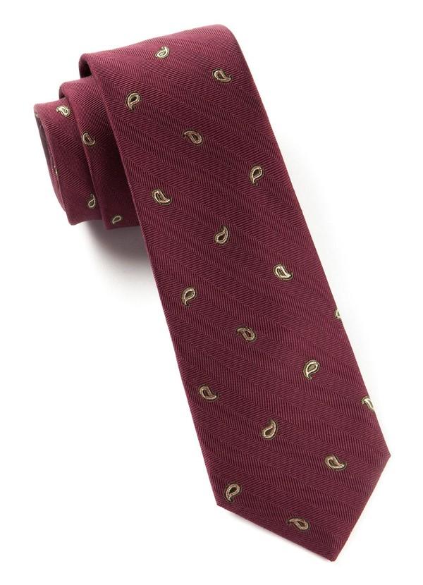 Subtle Paisley Burgundy Tie