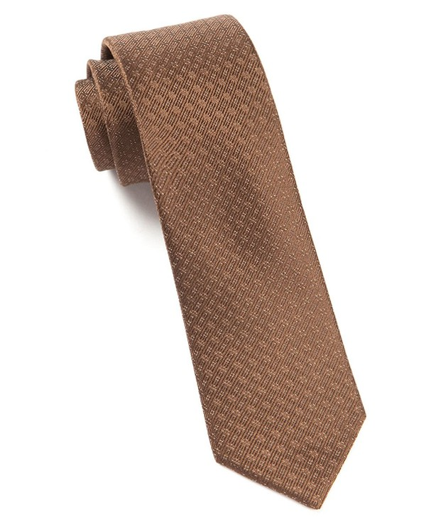 Speckled Chocolate Brown Tie
