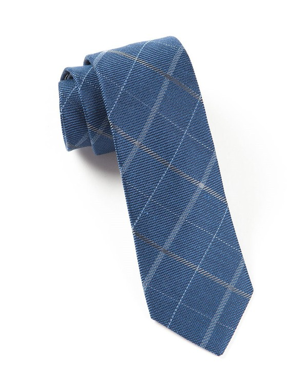 Sheridan Plaid Navy Tie