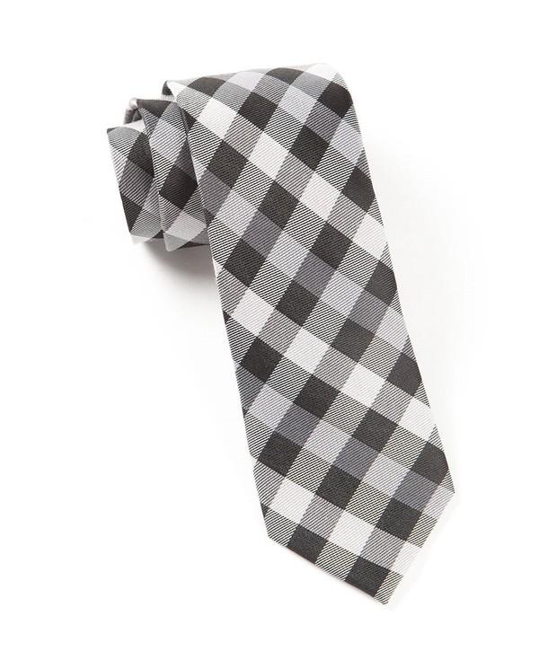 Gingham Fusion Black Tie