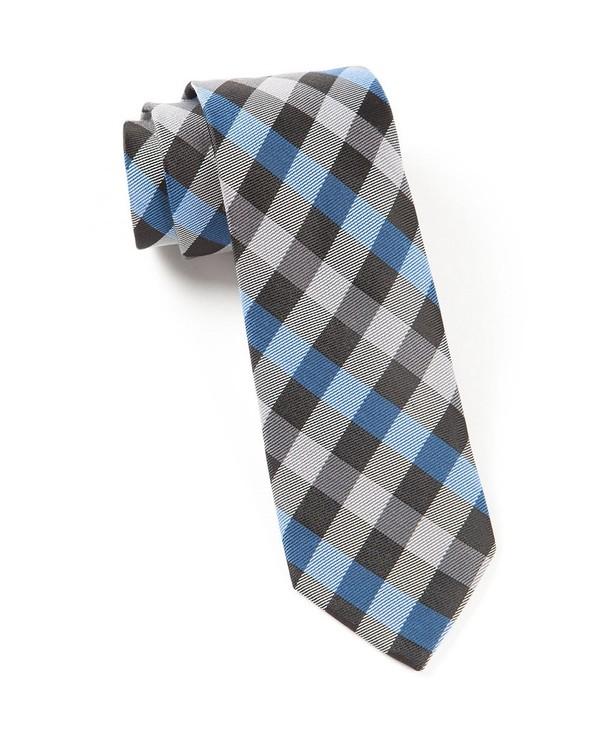 Gingham Fusion Blue Tie