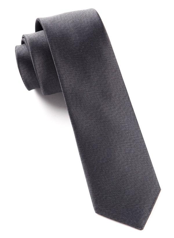 Melange Twist Solid Charcoal Tie