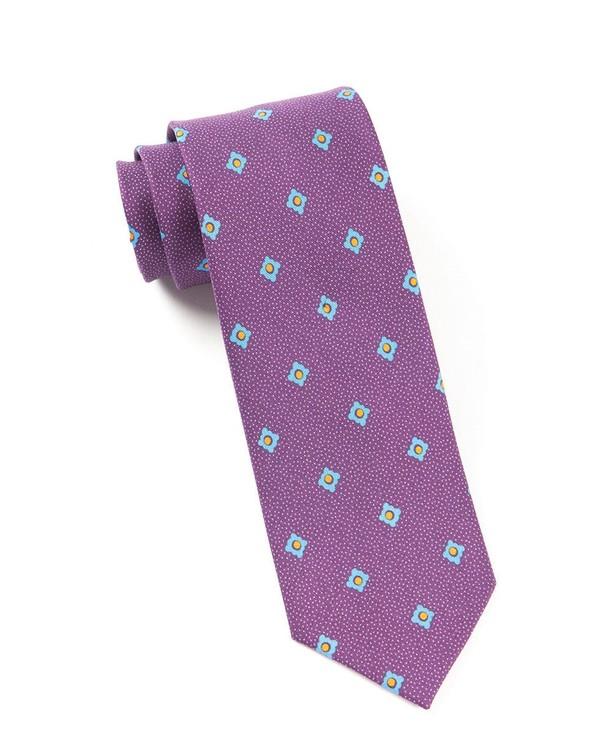 Speckled Geo Plum Tie