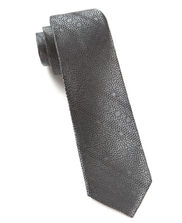 Interlaced Charcoal Tie