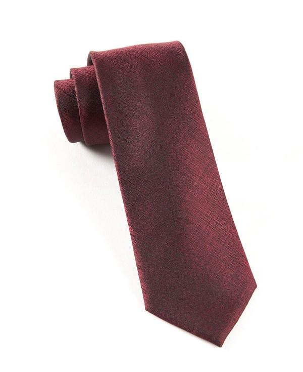 Debonair Solid Deep Burgundy Tie