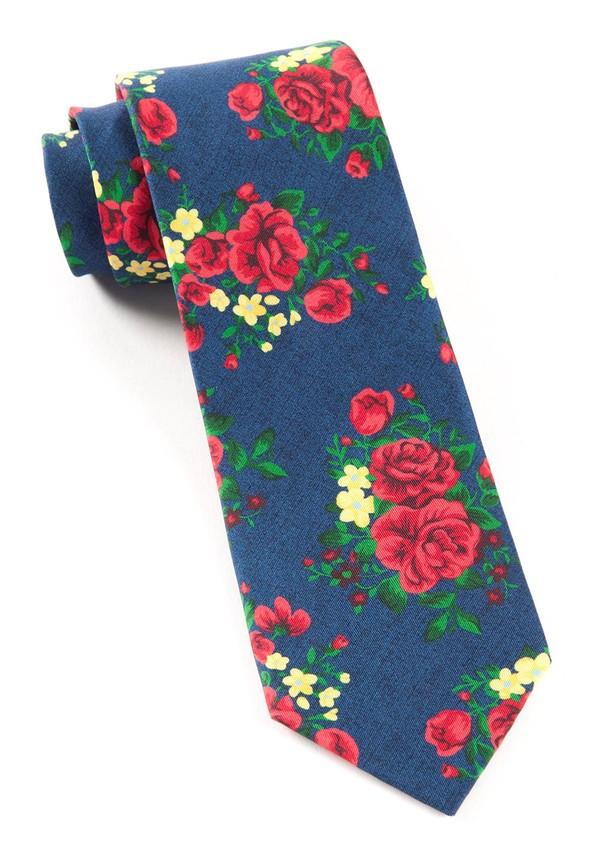 Hinterland Floral Navy Tie