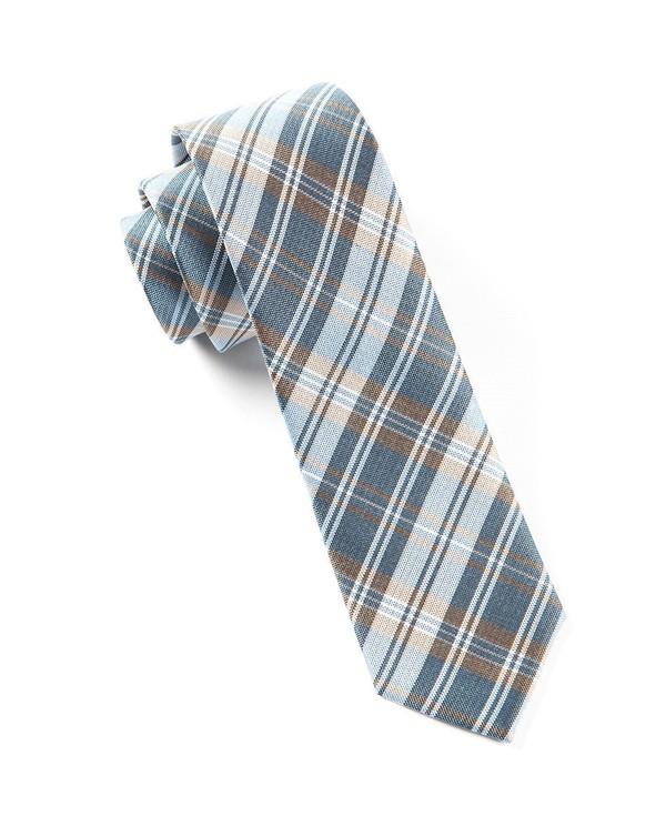 Narrative Plaid Light Blue Tie