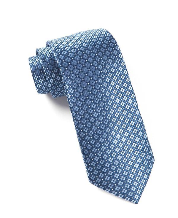 Aerial Geo Light Blue Tie