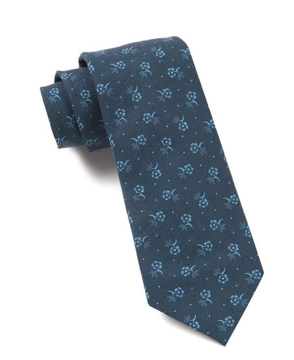 Bluegrass Floral Navy Tie