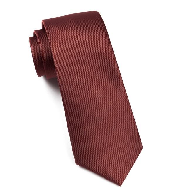 Grosgrain Solid Marsala Tie