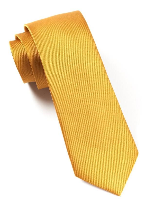 Grosgrain Solid Mustard Tie